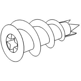 Gipskarton-Schlagdübel mit Schraube_20